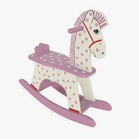 horse rocking wooden 3D model