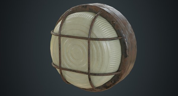 3D bulkhead light 2c model