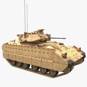 bradley m2a2 tank 3D