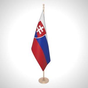 slovakia flag 3D model