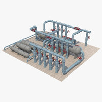 pipe industrial model