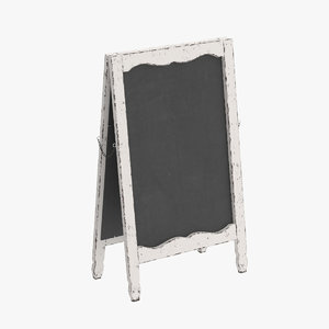 chic menu board 3D model