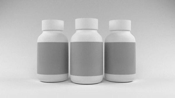 bottle medicine pills 3D model