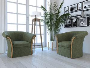 3D set furniture model