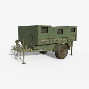 3D model military towable power