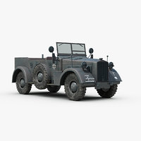 ww2 german horch kfz 3d 3ds