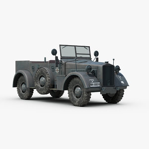 ww2 german horch kfz 3d 3ds