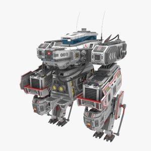 mech weapons 3D model