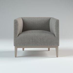 3D morgan barrelback chair