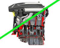 v6 engine cutaway 3D model