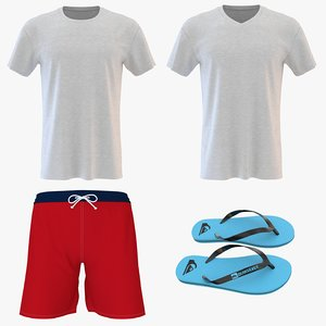 men beach clothing 3D