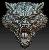 Printable wolf head