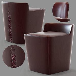 3D ulivi basket pouf model