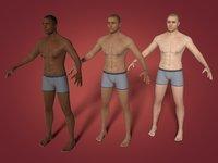 3D man model