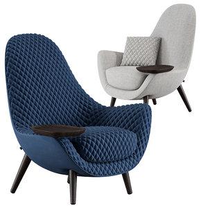 armchair mad king poliform 3D
