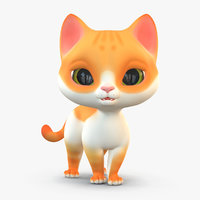 3D cute cartoon cat 2 model