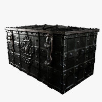 metal chest displacement 3D model