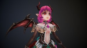 3D girl demon little
