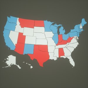maps usa election 3D model