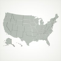 maps usa states 3D model