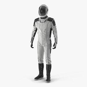 futuristic astronaut space suit 3D