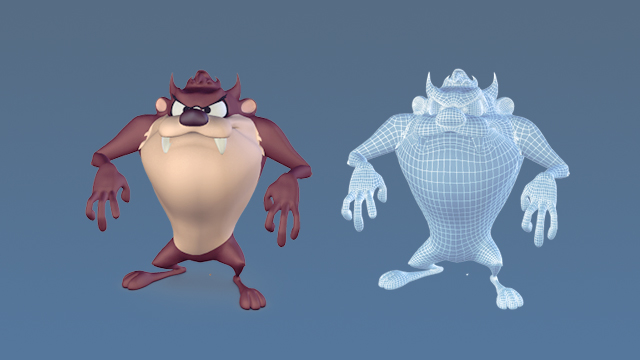 taz cartoon character 3D
