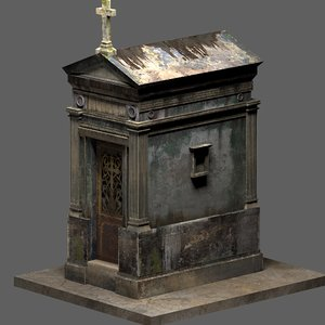 3D weathered mausoleum leaking