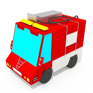 3D truck cartoon car model