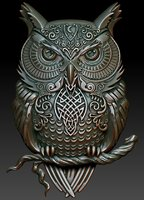 Printable Celtic owl