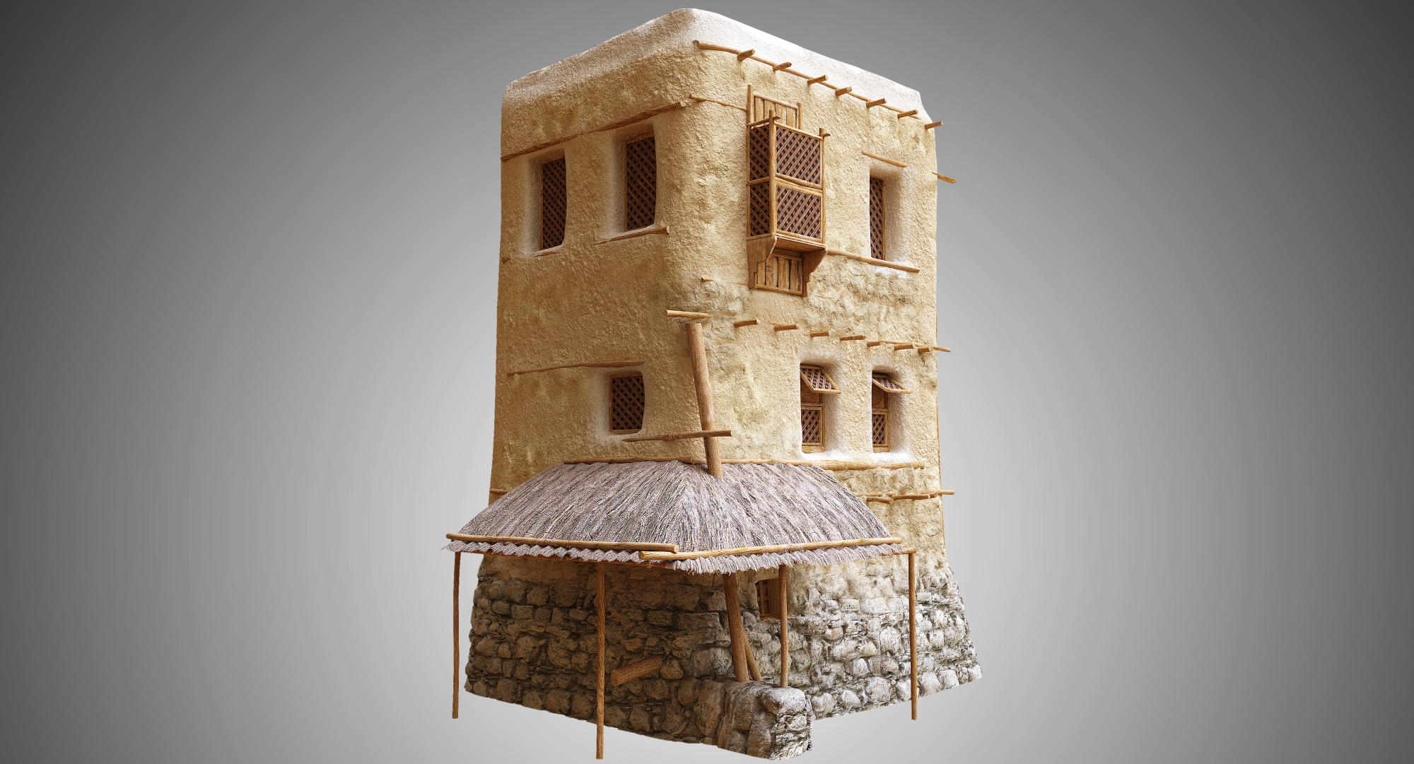 3d Old Arabic Islamic House Turbosquid 1414763