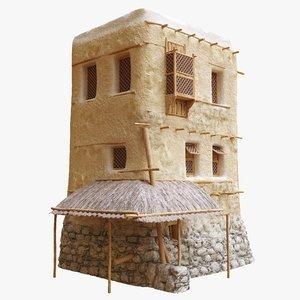 3D old arabic islamic house