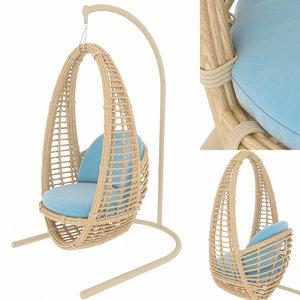 garden swing skylinedesign occasionals 3D model
