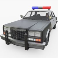 police interior officer included 3D model