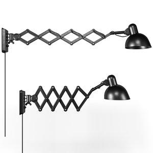 3D kaiser 6718 wall lamp model