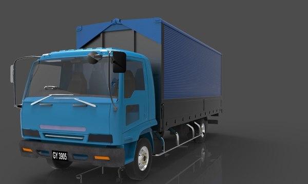 3D model isuzu truck vehicles