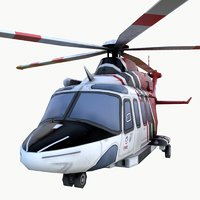 3D helicopter lafd 01
