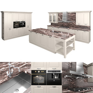3D kitchen oven sink model