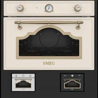 3D smeg sf4750mpo microwave oven model