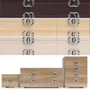 3D chests bedside tables prestige model