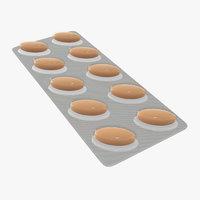 3D blister pack pills