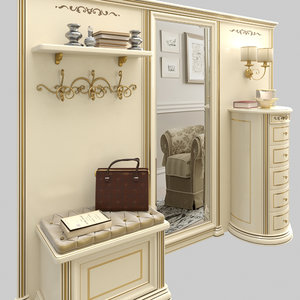 3D hall classic style model