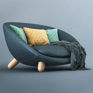 3D moooi love sofa