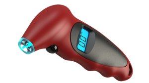 digital tire pressure gauge 3D model