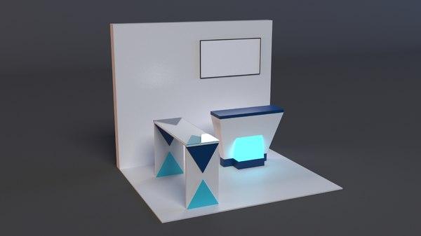 stand presentation 3D model