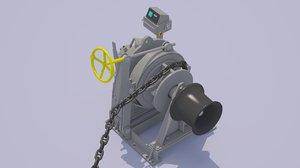 anchor windlass 3D