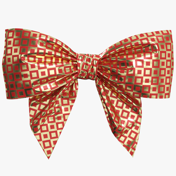 red gold bow 04 3D model