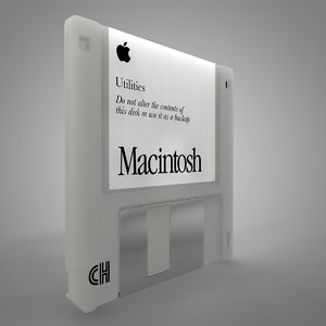 apple macintosh floppy disk 3D model