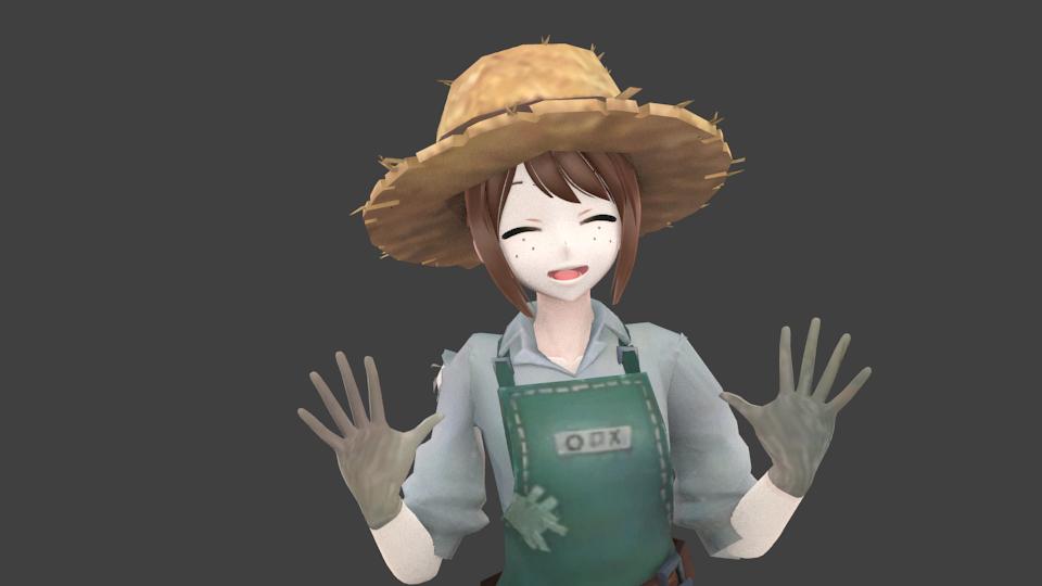 3D farmer girl farm