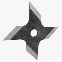 3D circle throwing star