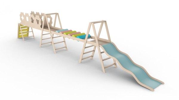 playground slide play 3D model